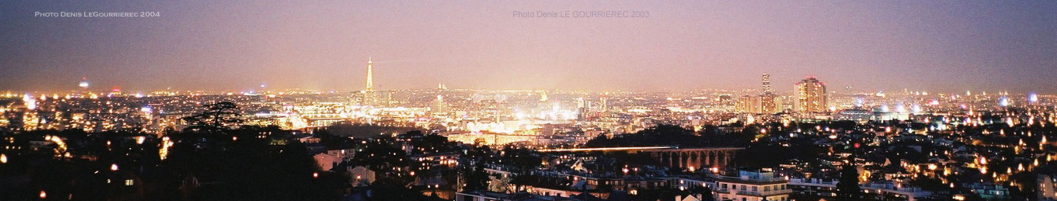 paris panorama night nuit nacht noche