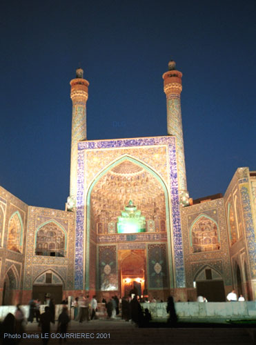 isfahan mosque night photo