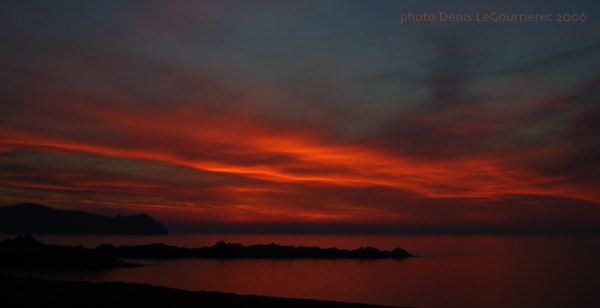 blasket island sunset
