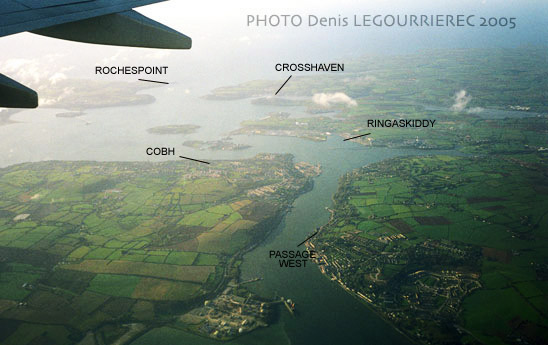 cork harbour from the plane