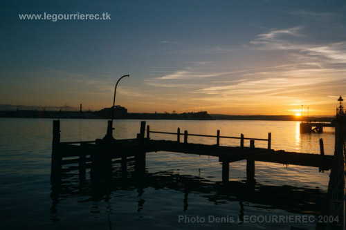 sunset from Cobh