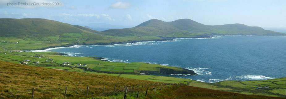 Saint Finian's Bay panorama in kerry