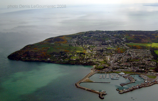 howth from the plane