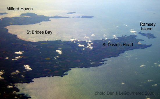 pembrokeshire from the sky